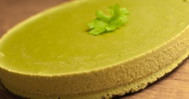 Grønn «ostekake» med kruspersille
