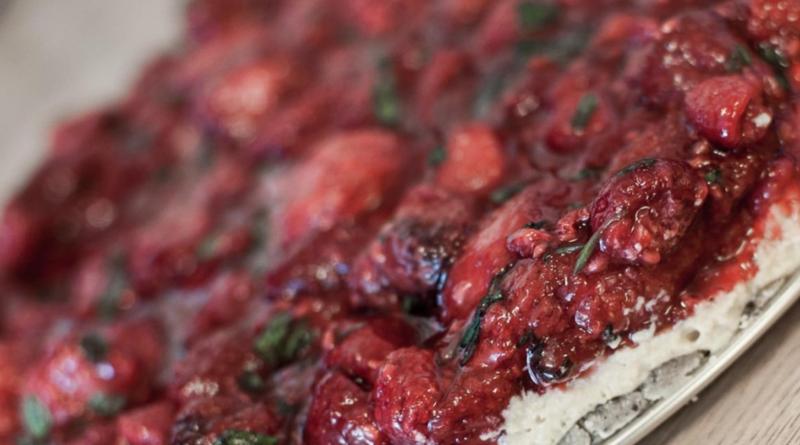Jordbær/lime «ostekake»